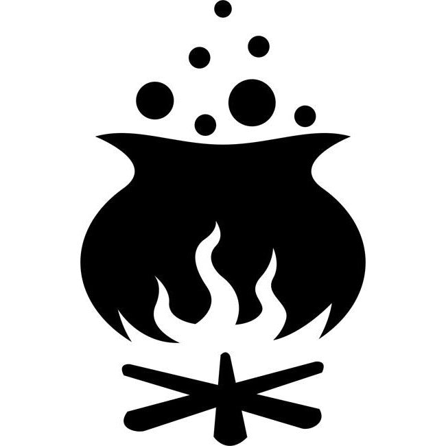 Cauldron Stencil by Crafty Stencils