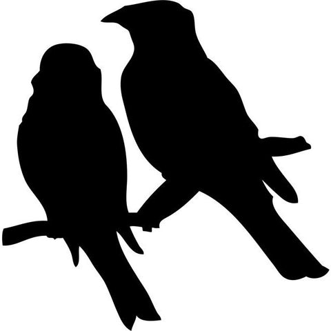 Lovebirds Bird Stencil