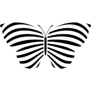 Striped Butterfly Stencil by Crafty Stencils