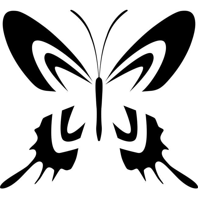Two-Tone Swallowtail Butterfly Stencil