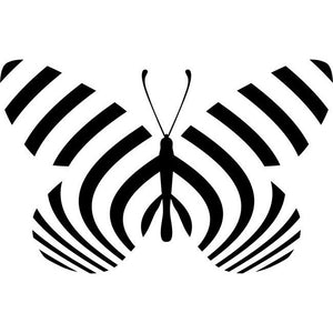 Zebra Longwing Butterfly Stencil by Crafty Stencils