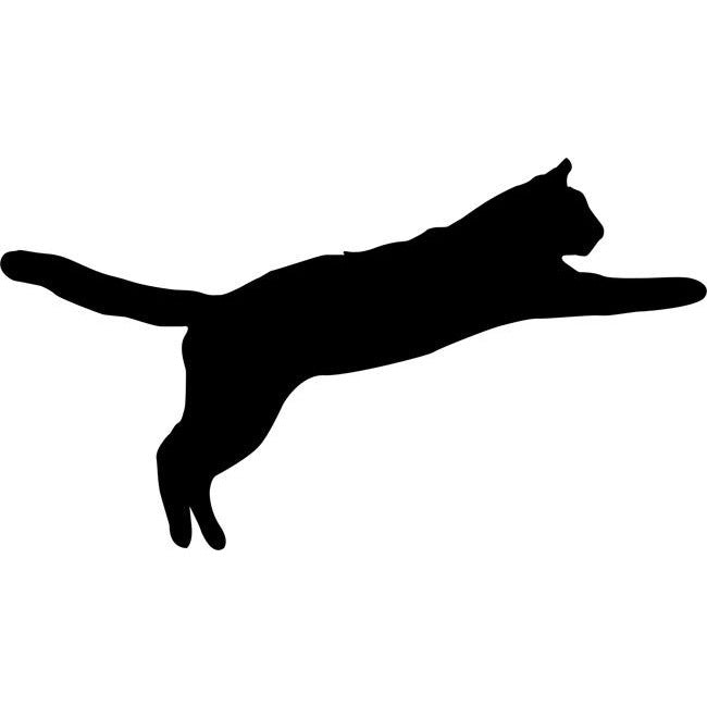 Leaping Cat Stencil