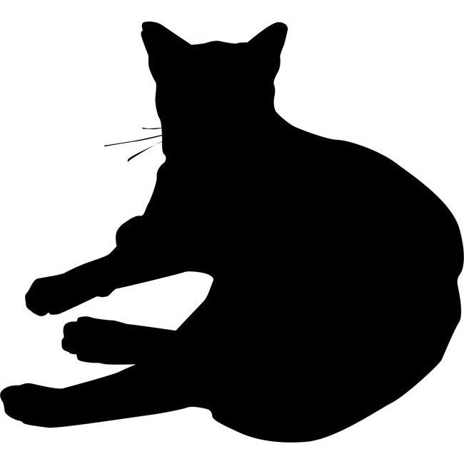 Lounging Cat Stencil 03