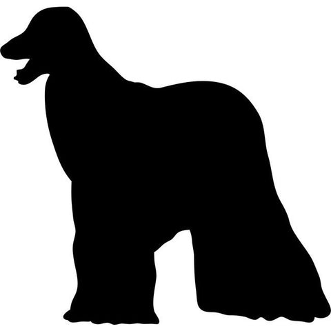 Afghan Hound Dog Stencil by Crafty Stencils