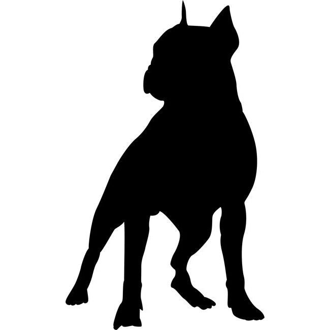Boston Terrier Dog Stencil