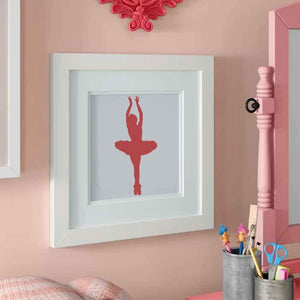 Ballet Dancer Stenciled in Frame