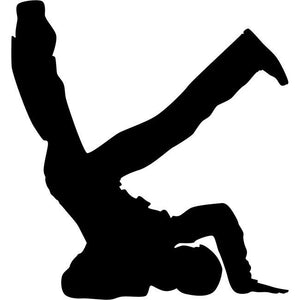 Headstand Break Dance Stencil 02 by Crafty Stencils