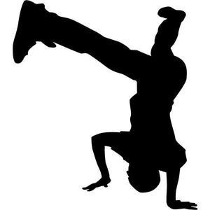 Headstand Break Dance Stencil