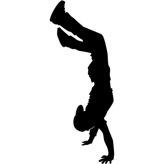 Handstand Break Dancing Stencil by Crafty Stencils