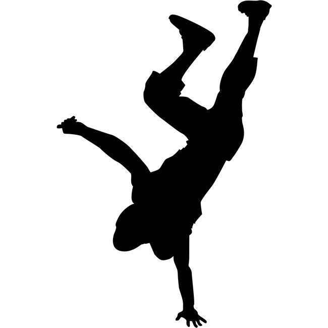 Handstand Break Dance Stencil 02 by Crafty Stencils