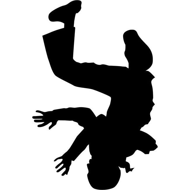 Headspin Break Dance Stencil