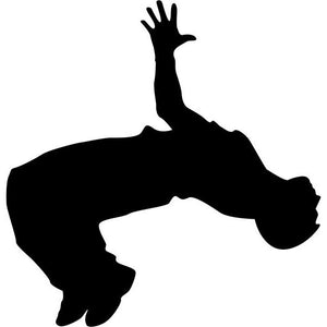 Back Bend Break Dance Silhouette Stencil