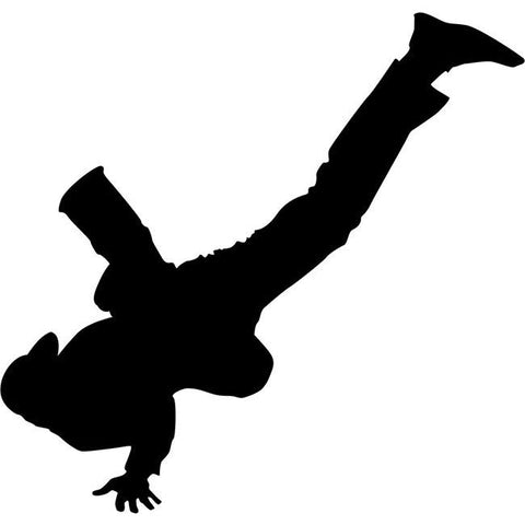 Hand Glide Break Dancing Stencil by Crafty Stencils