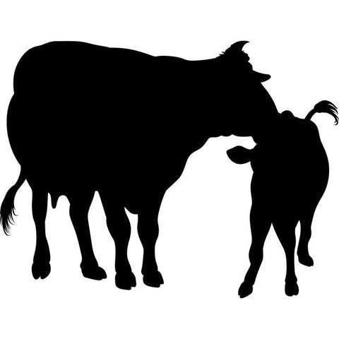 Mother and Calf Stencil
