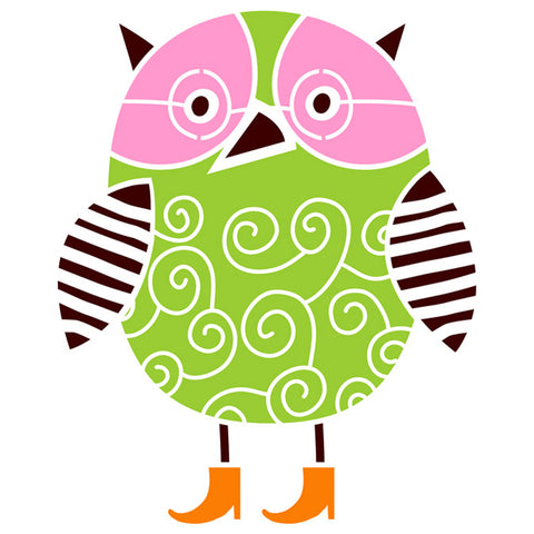 Swirl Owl Stencil by Crafty Stencils