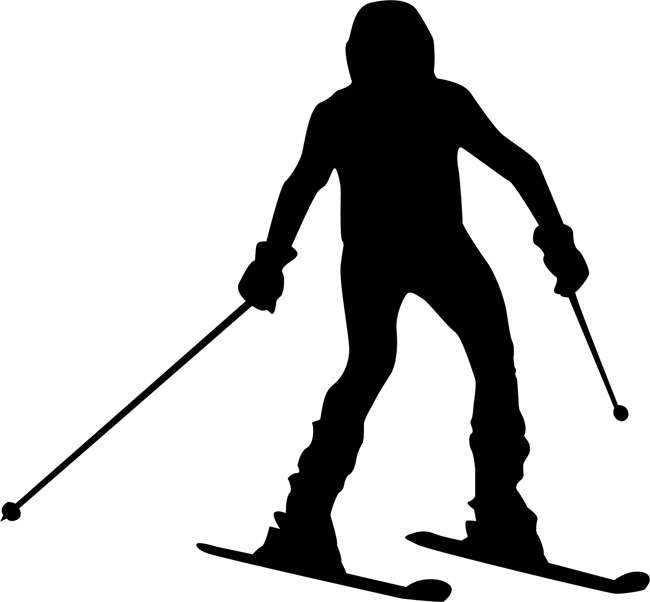 Beginner Skiing Stencil