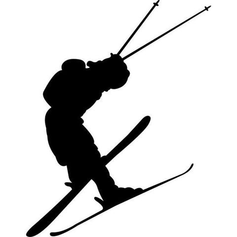 High Jump Skiing Stencil