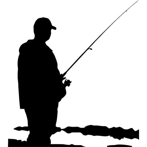 Shallow Water Fishing Stencil