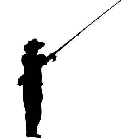 Fly Fishing Stencil