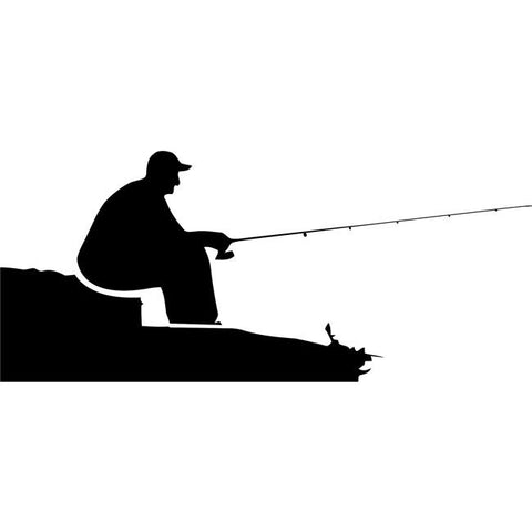 Relaxed Fishing Stencil by Crafty Stencils