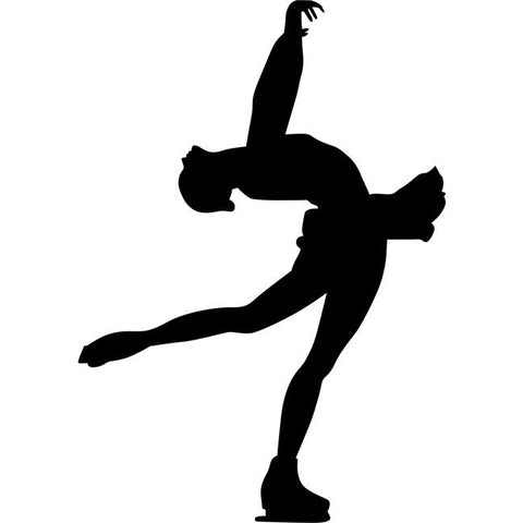 Layback Spin Figure Skating Stencil