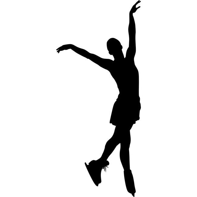 Toe Touch Figure Skating Stencil