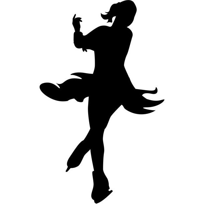 Axel Jump Figure Skating Silhouette Stencil
