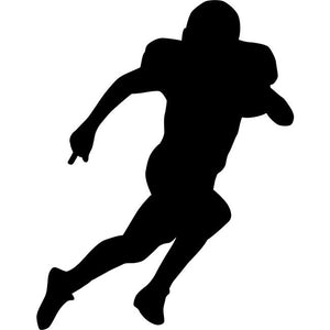 Runningback Football Stencil