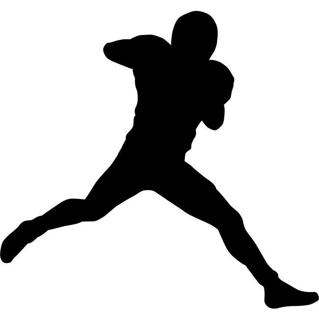 football player silhouette stencil 02