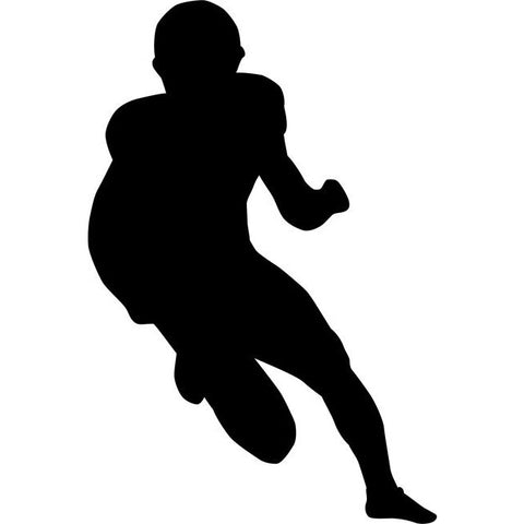 Fullback Football Stencil