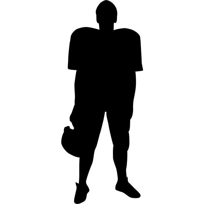 Uniformed Football Player Stencil