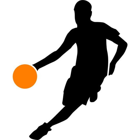 Traveling Basketball Stencil