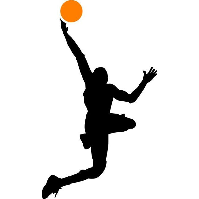 Lay-Up Basketball Stencil