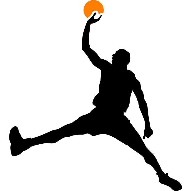 Air Basketball Silhouette Stencil