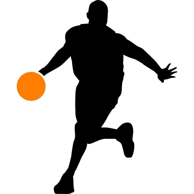 Passing Basketball Stencil