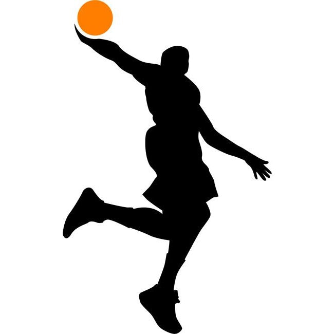 Windmill Dunk Basketball Stencil