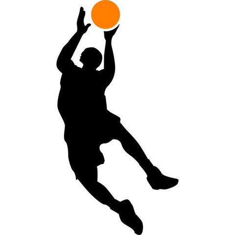 Jump Shot Basketball Stencil