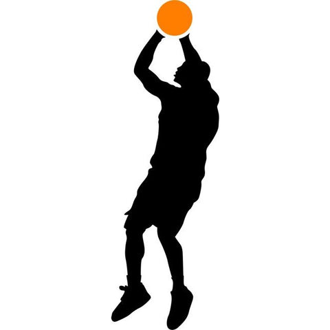 Three Point Basketball Stencil