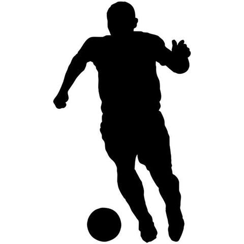Passing Soccer Stencil