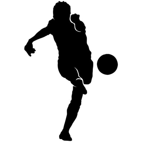 Volley Kick Soccer Stencil