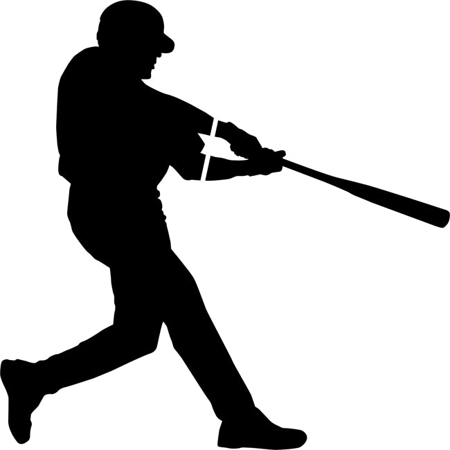 Home Run Hit Baseball Stencil
