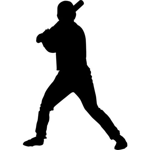 Batter Up Baseball Stencil