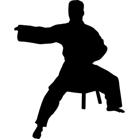 Side Block Karate Stencil