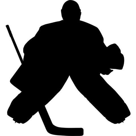 Goalkeeper Hockey Stencil