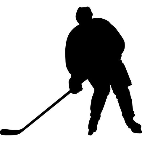 Passing Hockey Stencil