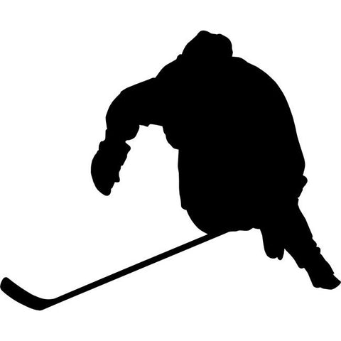 Forward Stride Hockey Stencil