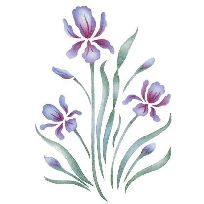 Royal Iris Craft Stencil