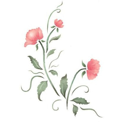 Simply Rosebuds Craft Stencil by Crafty Stencils