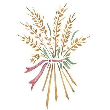 Wheat Bouquet Stencil