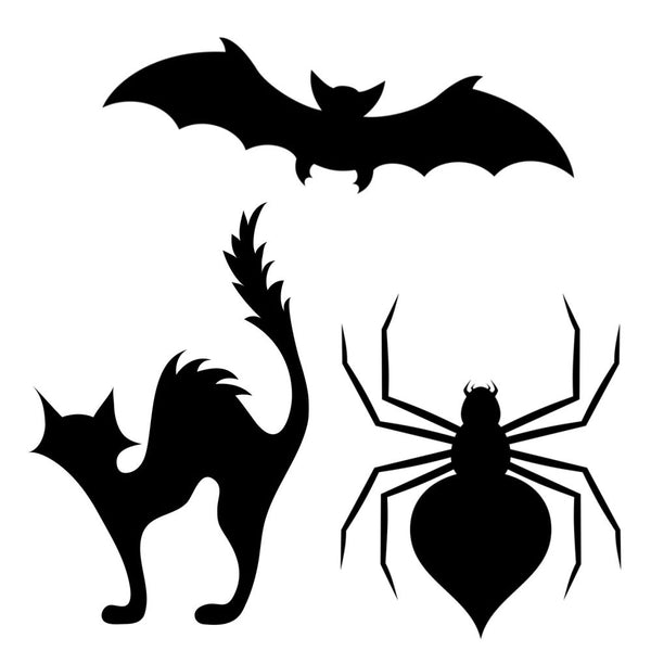 3 Piece Halloween Pumpkin Carving Stencil Set